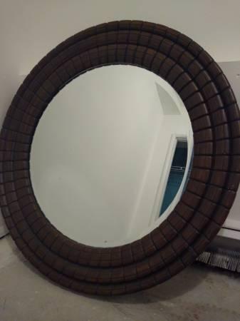 Photo Round framed beveled mirror - $150 (Juneau)