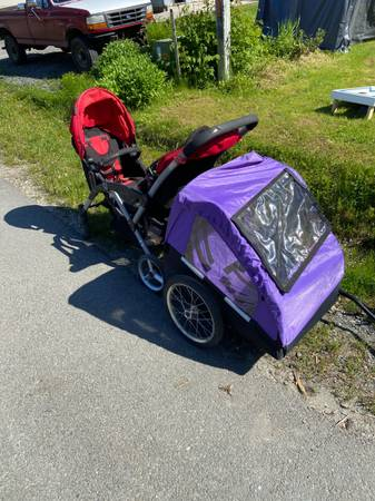 Photo Two person strollerbike seat (1023 arctic)