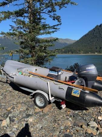 Photo Zodiac Inflatable on a trailer w 25hp Yamaha tiller - $5,500 (valley)