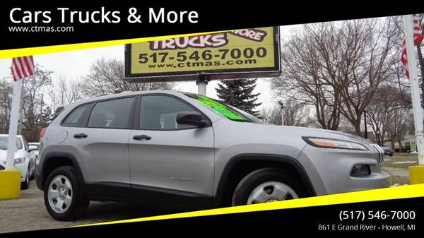 Photo 2014 Jeep Cherokee Sport  Clean Carfax  We Finance  - $10495 (517-546-7000 Cars Trucks  More Howell MI)