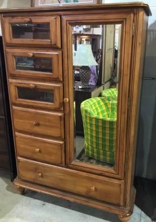 Photo Armoire Dresser With Mirror - $499 (Jackson, MI)
