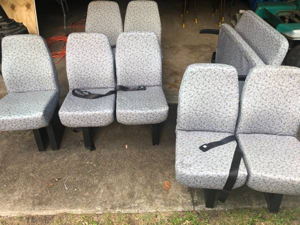 Photo E-350 Bus Seats with Seatbelts - $100