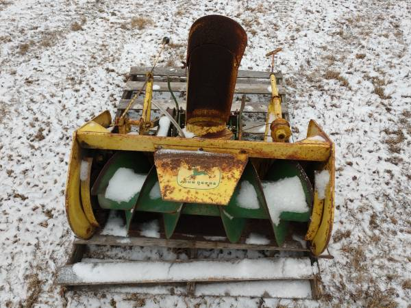 Photo John Deere 36 snow blower snowblower - $150