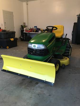 Photo John Deere Snow Plow (New) - $250 (GRASS LAKE)