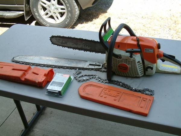Photo STIHL MS280 Chainsaw with both 16 and 20 inch Bars  Extra Chains - $350 (Hudson)