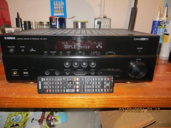 Photo Yamaha RX-V671 - 7.1 Channel HD AV Home Theater Receiver - $200 (Ann Arbor)