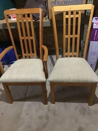 Photo padded oak dining chairs - $200 (Grass Lake)
