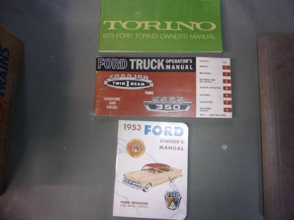 Photo 1953 CAR 65 Ford F100 - F350 73 Ford Torino Glove Box Owners Manual - $20 (Plymouth, Mi)