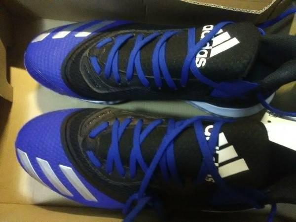 Photo Adidas men39s baseball cleats, blue, size 8.5 - $8 (Kalamazoo)