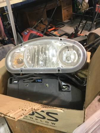 Photo Boss snow plow lights -complete with wiring - $250 (Schoolcraft)