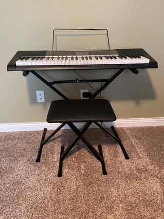 Photo Casio Keyboard LK-165 w lighted keys - $165 (Kalamazoo, MI (Texas Corners))