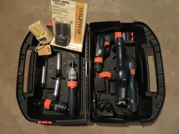 Photo Cordless Black and Decker VersaPak Tools and Batteries - $80 (Allegan)