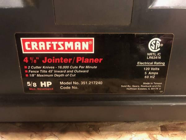 Photo Craftsman Jointer  Skil Bench Top Belt Sander - $150