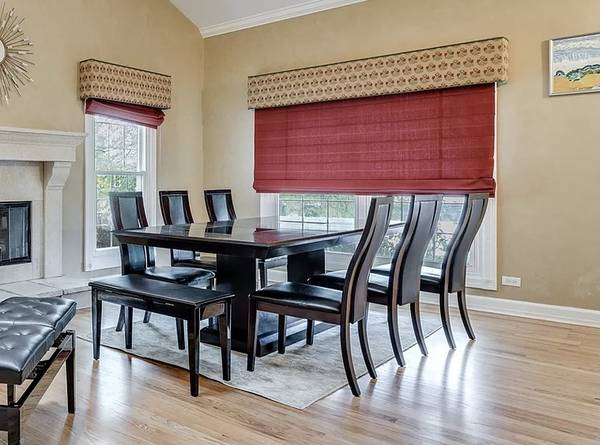 Photo Dining Table with Free Bench, 6 Chairs and Rug - $499 (Kalamazoo)