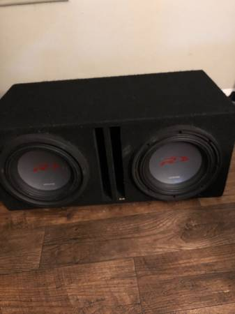 Photo Dual 10 alpine pro comp subs in box - $250 (Kalamazoo)