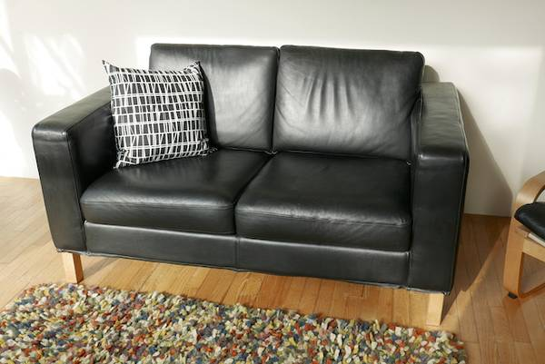 Photo IKEA Leather Loveseat Couch - Very Nice - $395 (Kalamazoo)