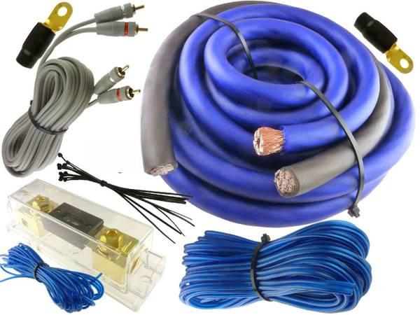 Photo New 0 Gauge Car Audio Install Amp Installation Kit 4000W - $50 (three rivers mi)