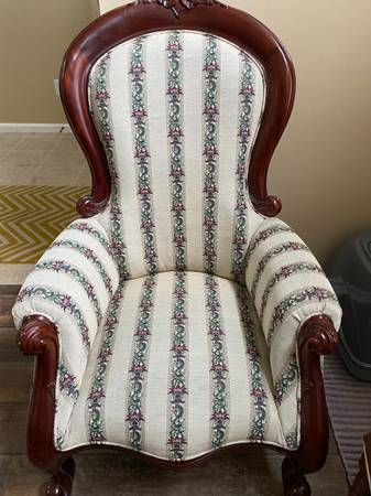 Photo Pair of antique queen chairs - $450 (Scotts)
