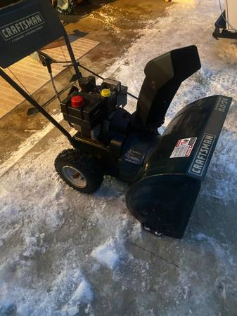 Photo Snowblower Craftsman 24 inch 5.0 Electric start - $125 (Plainwell)