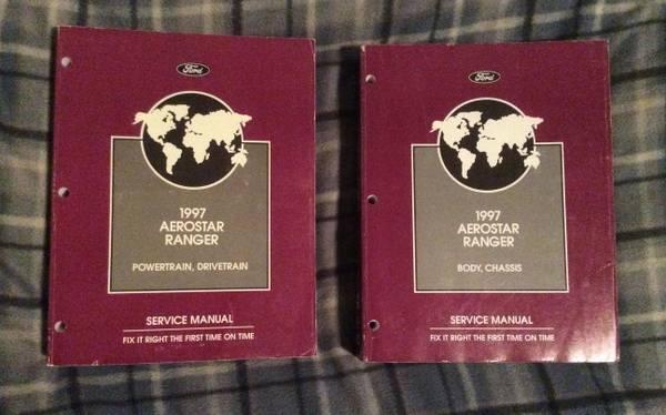 Photo 1997 Aerostar Ranger service manuals - $10 (Pullman)