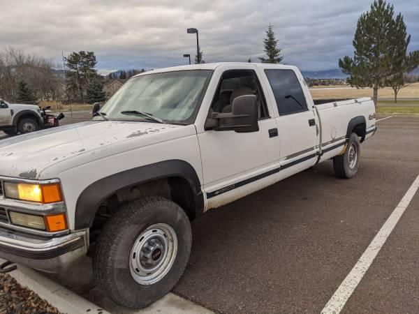 Photo 1999 Chevy Silverado 3500 Long Bed crew cab 4X4 - $4,500 (Whitefish)