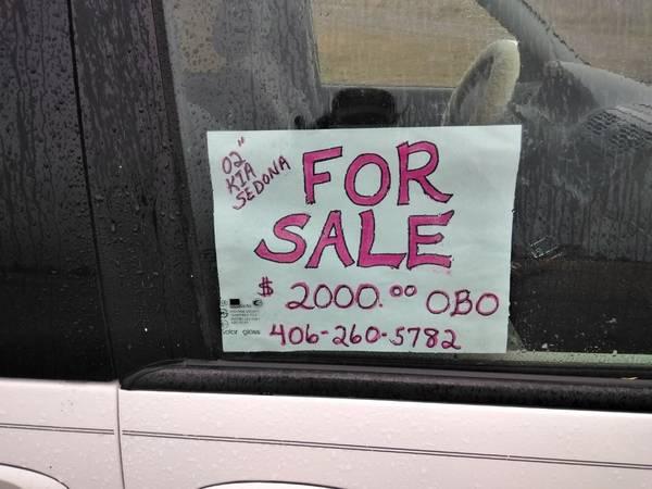 Photo 2002 Kia Sedona - $2,000 (kalispell)