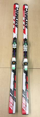 Photo Atomic GS12 Downhill Skis W Marker M48 Bindings, Black and Red, 191cm - $295 (Columbia Falls)