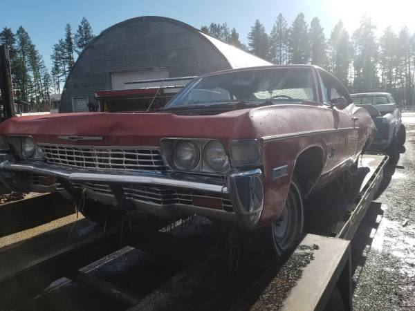 Photo CLASSIC 1968 impala 2 dr hardtop project or - $800 (Kalispell)