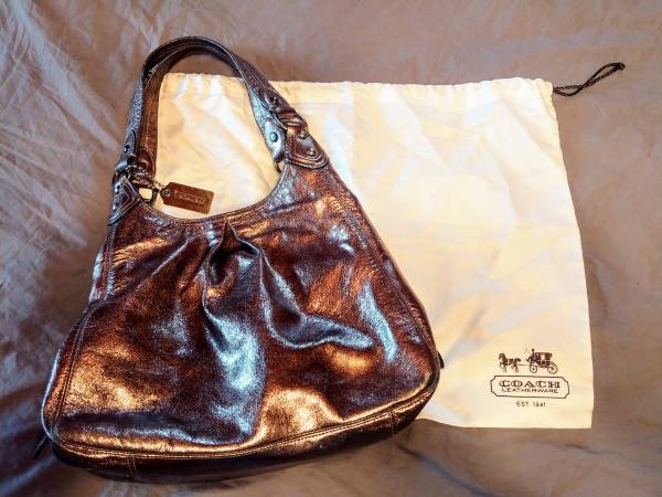 Photo Coach Maggie Silver Purse  Coach Scarf - $38