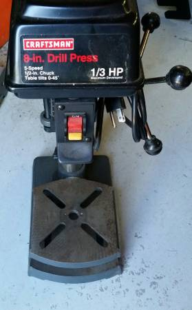 Photo Craftsman Bench Top Drill Press, 8quot 5-Speed, Good Condition - $55 (Kalispell)