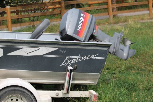 Photo LundV-bottom Boat  40 hp - $4,500 (Polson)