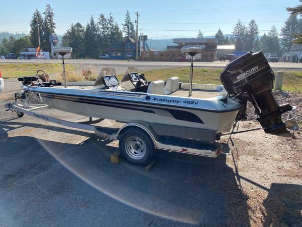 Photo SUPER NICE Ranger 482v Fiberglass 2.5L 175hp Mercury Bass Fishing Boat - $8,500 (Big Fork)