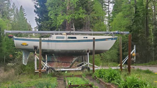 Photo Sailboat with motor and sails - $500 (Bigfork)