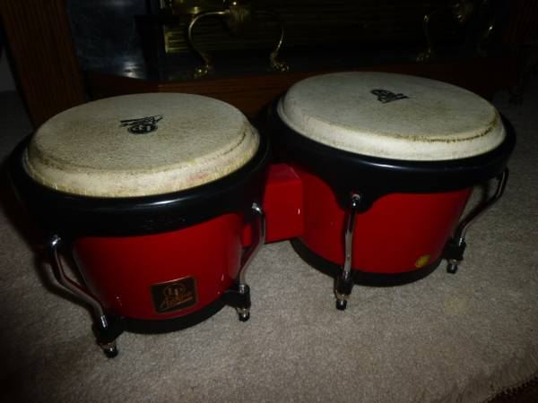 Photo USED LP Great Sounding Latin Percussion Aspire Bongos - $75 (Columbia Falls)