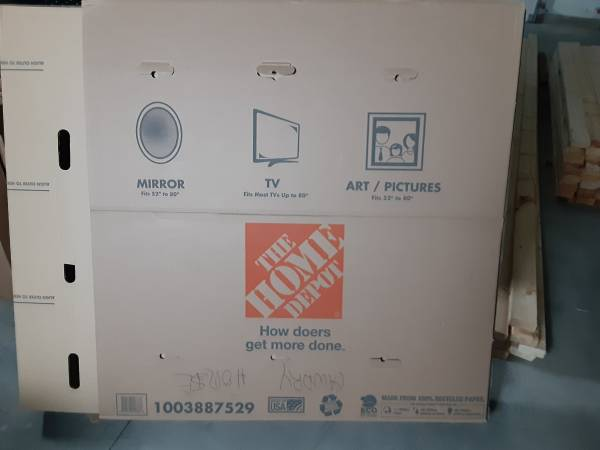 Photo moving boxes for BIG SCREEN TV - $10 (Whitefish)