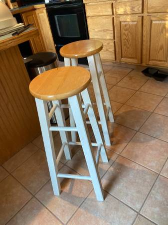 Photo two bar height stools - $20 (Kalispell)