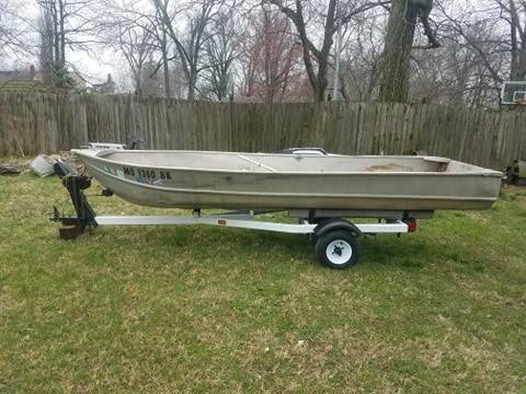 Photo 1971 Aluminum Fishing Boat (14 ft) and Trailer - $750