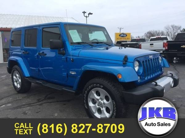 Photo 2015 Jeep Wrangler Unlimited Unlimited Sahara Sport Utility 4D - $24995 (We Want Your Trade)