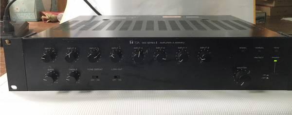 Photo Amplifier TOA A-906MK2 Rack Mount 8 Input - $25 (Shawnee)