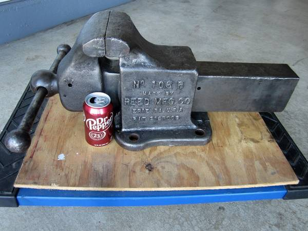 Photo BIG Reed 106R Bench Vise 6quot Jaws 128 - $600 (South Overland Park)