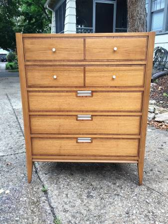 Photo Basic Witz Mid Century Highboy Dresser and Matching Nightstands - $300 (Kansas City)