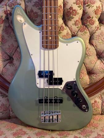 Photo Fender Player Series Jaguar Bass (Metallic Sage)  Brand New - $650 (Kansas City, MO)