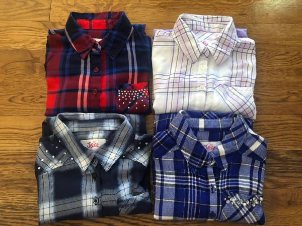 Photo Girls Justice Flannel Tops, Size 10 - $30 (Kansas City North  Zona Rosa)