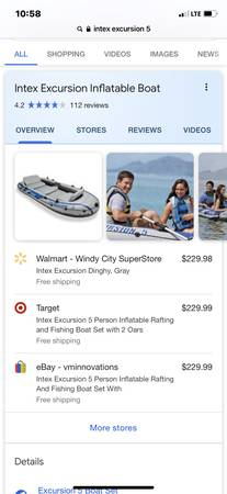 Photo Intex excursion 5 person raft - $180 (Overland Park)