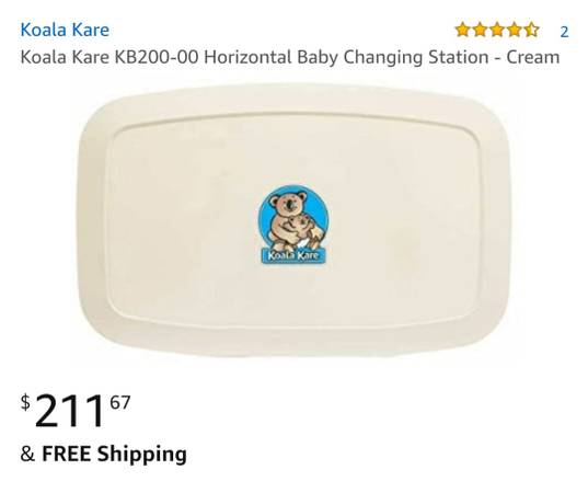 Photo Koala Care Baby Changing Station for Bathroom - $80