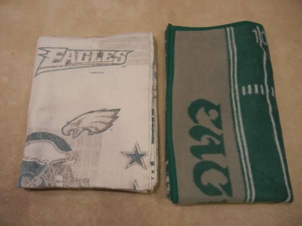 Photo Lot of 2 Philadelphia Eagles Blankets by The Northwest Company - $10 (Olathe)