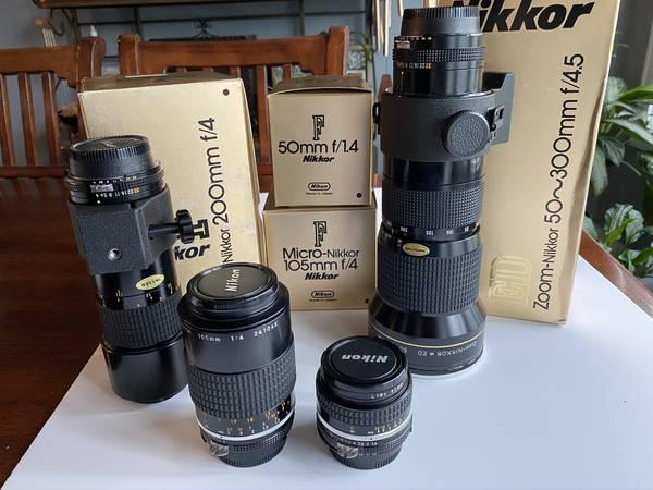 Photo Nikon F Lenses - $600 (Olathe)