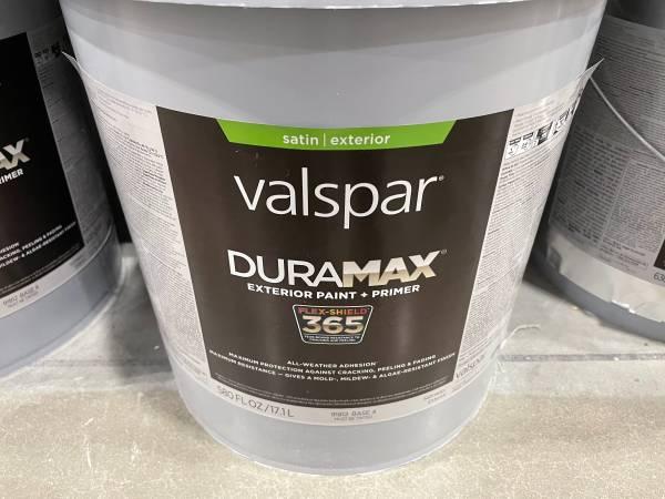 Photo Paint Val-spar Duramax new sealed salty dog satin paint - $95 (Leawood)