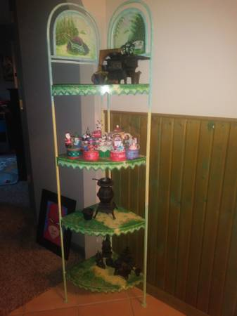 Photo Pair of hand painted metal corner cabinets $75 for the pair - $75 (LEES SUMMIT)