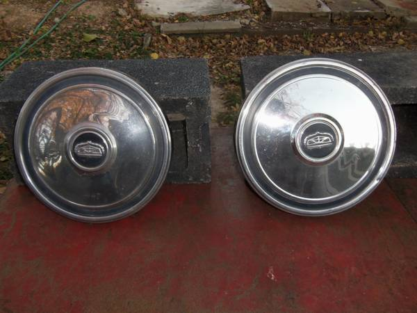Photo Two Ford Dog Dish Hubcaps 10.5quot - $20 (Kansas City Ks)